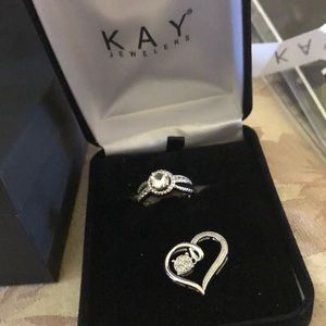 Kay jewelers sapphire ring and sapphire necklace